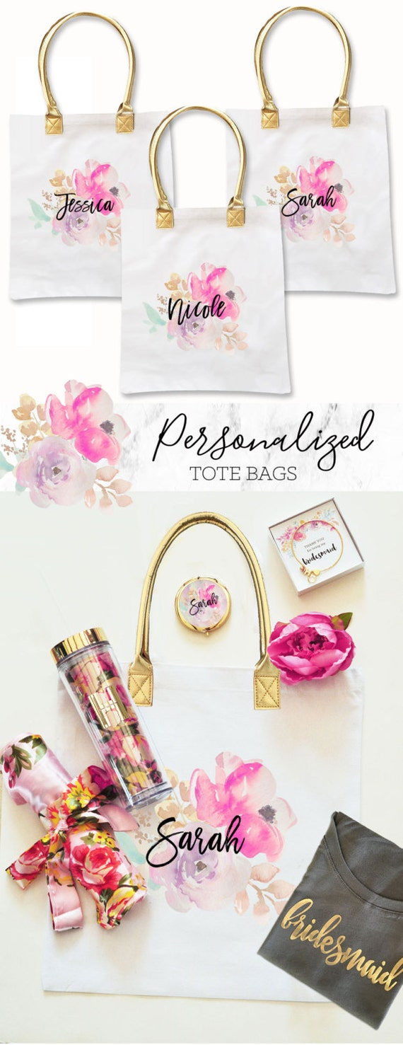 Flower girl gift bag bridesmaid tote