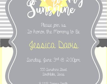 You are my Sunshine Shower Invitation