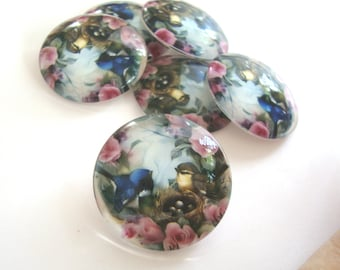 10 Glass Cabochons  25mm