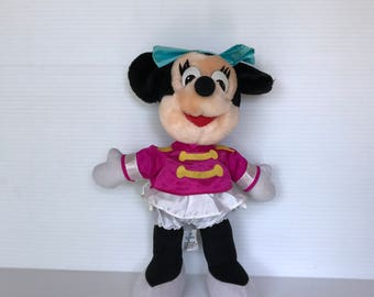 PLUSH MINNIE MOUSE, Vintage Stuffed Animal, Circus Minnie, Ring Leader Minnie, vintage plush Minnie, Disneyland vintage collectible, cute