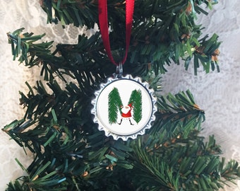 "Christmas Ornament, Letter ""M"" Ornament, Monogram Ornaments, Initial Ornaments, Any Letter Available, Our First Christmas, 2017 Ornament"