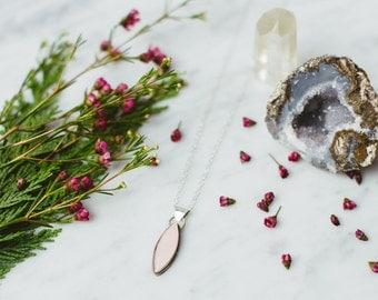Rose Quartz Pendant   Rose Quartz Necklace   Pink Pendant   Rose Pendant   Pink Stone Pendant   Quartz Pendant