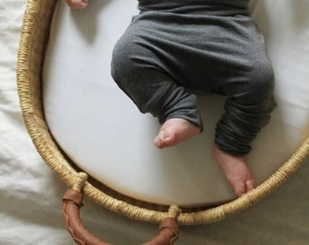 Charcoal Gray Baby Bamboo Slouchy Pants