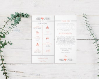 Timeline reception wedding pdf