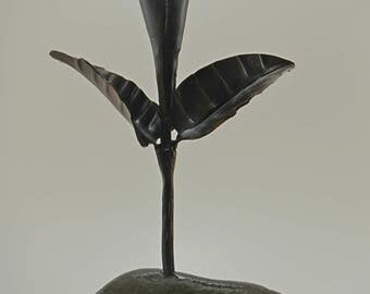 Hand forged calla lilly