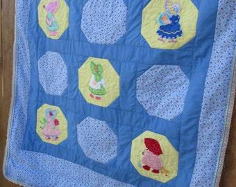 Sunbonnet Sue baby quilt (lap quilt)