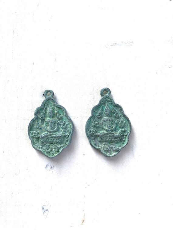 Buddha Charm, Tassel Charm, Mala Bead Charm, Seated Buddha
