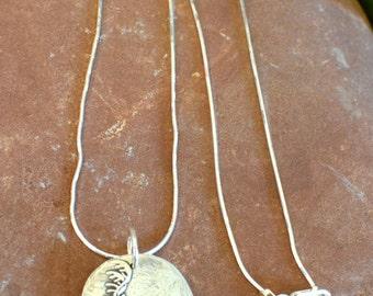 Fine Silver Reindeer Pendant | Precious Metal Clay