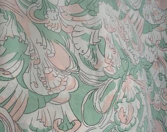 1.4m Vintage LIBERTY silk dress fabric yardage, c1930s -1950s