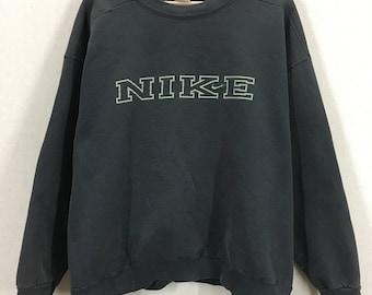 Vintage Nike Block Print Crewneck Sweatshirt USA Sz XL