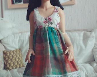 BJD Plaid Dress