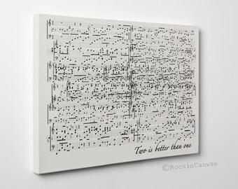 Sheet Music Wall Art sheet music notes wall art set of 2 sheet music art wedding