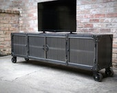 Media Console Cabinet Car...