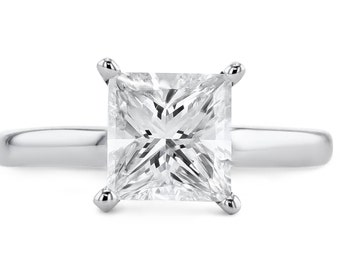 Engagement Ring 10.98 Carat Asscher Cut Diamond Engagement Ring  14K White Gold  #J49335 FREE SHIPPING