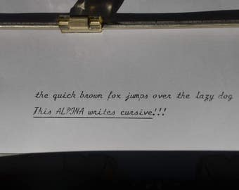 CURSIVE TYPEWRITER - Alpina Portable - Rare Typewriter - Fully services - Working Perfectly