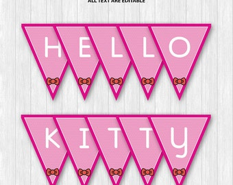 Hello Kitty Pennant Banners