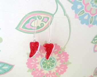 Polymer Clay Meat/Steak Fashion Earrings with Fish or Kidney Hooks - Ready to Ship