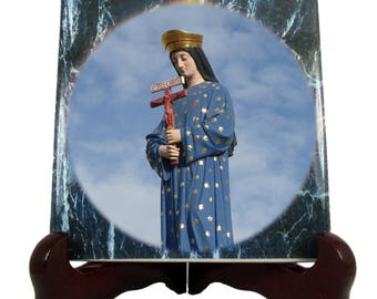 Religious gifts - Our Lady of Pontmain - catholic icon on tile - Our Lady of Hope - religious icons - Virgin Mary icon - Virgin Mary art