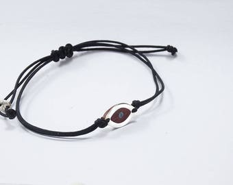BRACELET EYE Wooden High quality Handmade Jewelry by Silver 925 and Rosewood