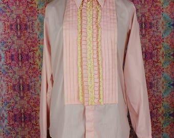 Vintage 1960s Lion of Troy Tuxedo Shirt