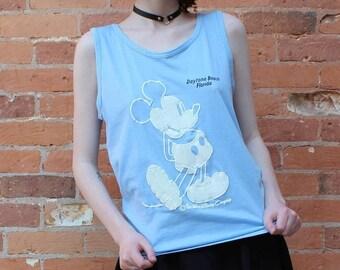 Daytona Beach Mickey Mouse Vintage 1980s Souvenir Muscle Shirt
