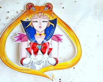 Single Super Sailor Moon 4x4 sticker