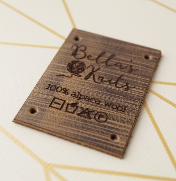 Knitting Labels Personalized : Leather labels personalized knitting or crochet with