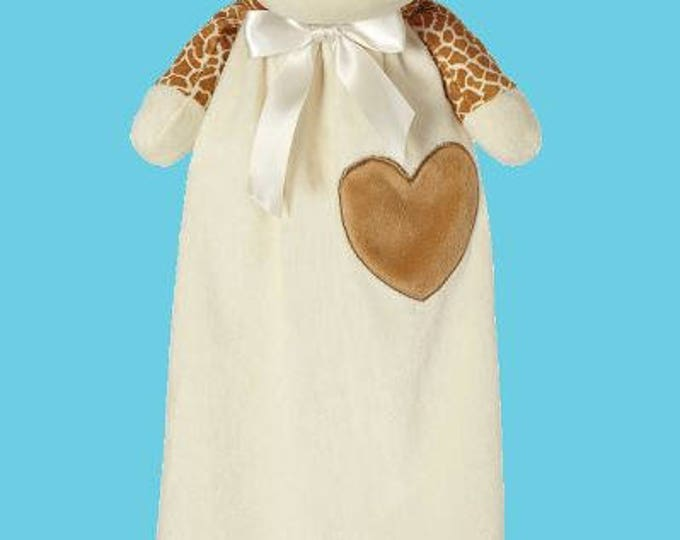 Featured listing image: Giraffe Lovey | New Baby Gift Idea | Animal Blanket | Personalized Birthday | Stocking Stuffer | Security Blanket