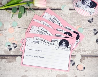 Words for the Bride Cards // Personalised Hen Party Activity // 10 cards per pack