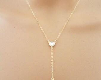Amethyst Necklace, Amethyst Oval Pendant, Small Amethyst Necklace, February Birthstone, Dainty Necklace, Amethyst Y Necklace