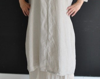 Handmade Linen skirt to wear on its own or just under any dress in linen