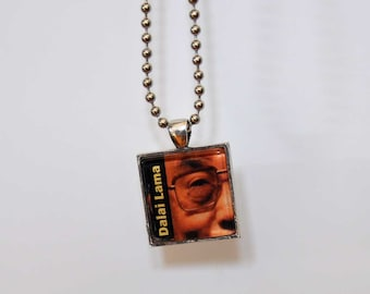 Art Necklace / Dalai Lama's Eye Pendant / Wearable Art