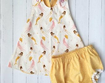 Mermaid Dress , Pink Mermaid Dress , Mermaid Baby Dress , Mermaid Party Dress , Mermaid Outfit , Birthday dress , Mermaid party , Toddler