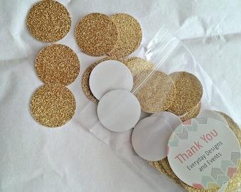 Gold Confetti, Circle Confetti, 100 pieces, wedding confetti, birthday confetti, Gold Wedding, Baby Shower, Table Confetti, Party Confetti