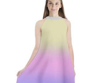 Star Wars Dress, Padme Lake Gown Inspired Chiffon Dress, Padme Amidala Dress, Star Wars Collard Chiffon Dress