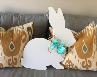 Easter Bunny Wood Decoration
