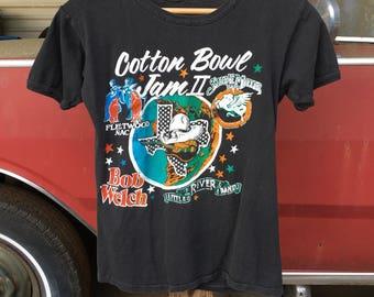 1978 Fleetwood Mac, Steve Miller Band, Bob Welch, Little River Band Concert Shirt - Vintage 1970s Dallas Texas Cotton Bowl Jam II Shirt - XS