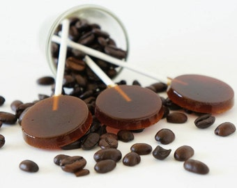 Coffee Lollipops, Coffee Suckers, Homemade lollipops, Coffee Hard Candy, Mother's Day, Hard Candy Lollipop,  Baby Shower