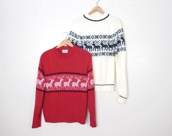 Vintage Set of 70s/80s Ski Sweaters Size M