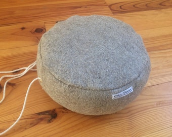Zafu, lin felt meditation cushion