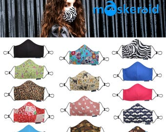 MASKERAID® Reusable & Washable Pure Cotton Groomers Face Masks