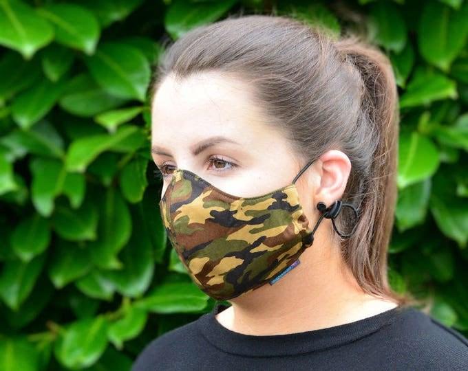 MASKERAID Camouflage Reusable Cotton Face Mask