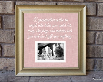 grandma picture frame grandmother gift grandparent personalized frame wooden frame square frame quote frame grandparent 15x15