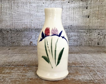 Vase Vintage Pottery Vase Small Ceramic Flower Vase Mid Century Vase Handmade Ceramic Vase Bud Vase Wheel Thrown Vase Cottage Chic
