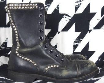 Vintage Biltrite Black Leather Combat Boots