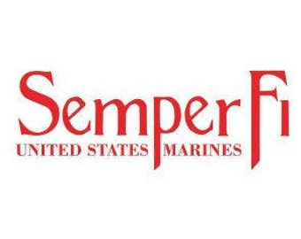 USMC Decals:  Semper Fi Decals, USMC Stickers, Decasl for trucks, Marine Gifts, Marine Corps Ball Decal, USMC Gifts, Parent of Marine Decal