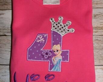 Frozen 4th Birthday Shirt
