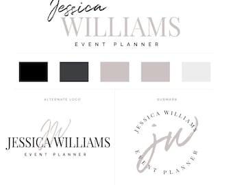 Branding Kit, Branding Package, Premade Logo, Neutral Logos, Minimal Branding,  Event Planner Logo, Photography Logo, Watermark Logo