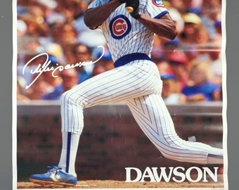 1988 Andre Dawson Chicago Cubs Wrigley Field Poster Gatorade Sponsored 23 x 35