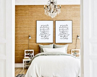 CUSTOMIZED Quote Prints! 6 STYLES! [Bedroom Above Bed Art, Cute Prints, Print Pack, Lyric Art, Wedding Vow Prints, Large Artwork, 2 Prints]